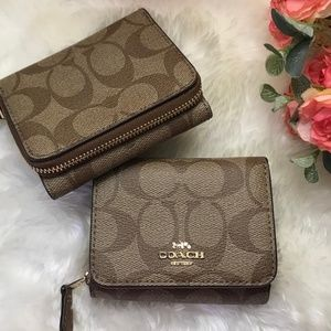 🔥FINAL PRICE🔥NWT COACH SIGNATURE TRIFOLD WALLET